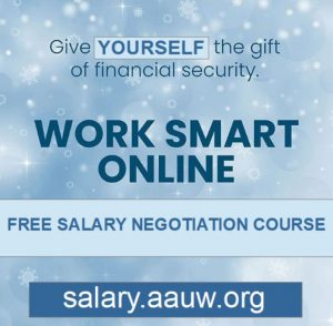 image promoting AAUW's Work Smart Online salary negotiation course